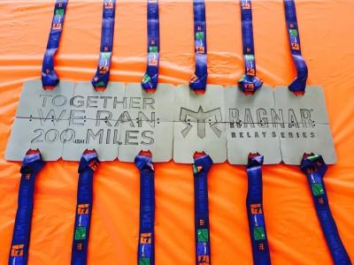 Team members' medals