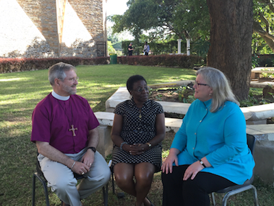 (l-r) Ian Douglas, Rosalie Simmonds Ballentine, and Gay Clark Jennings, Episcopal Church members of the Anglican Consultative Council