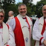 (l-r) Bishops Sarah Macneil of the Anglican Church of Australia, Ian Douglas of the Episcopal Church, and Stephen Cottrell of the Church of England