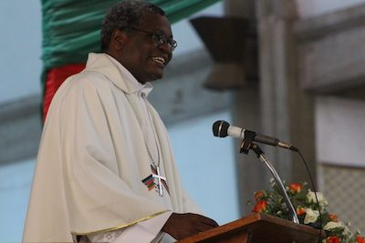 Bishop James Tengatenga preaches at the closing Eucharist of the recent Anglican Consultative Council meeting in Lusaka, Zambia